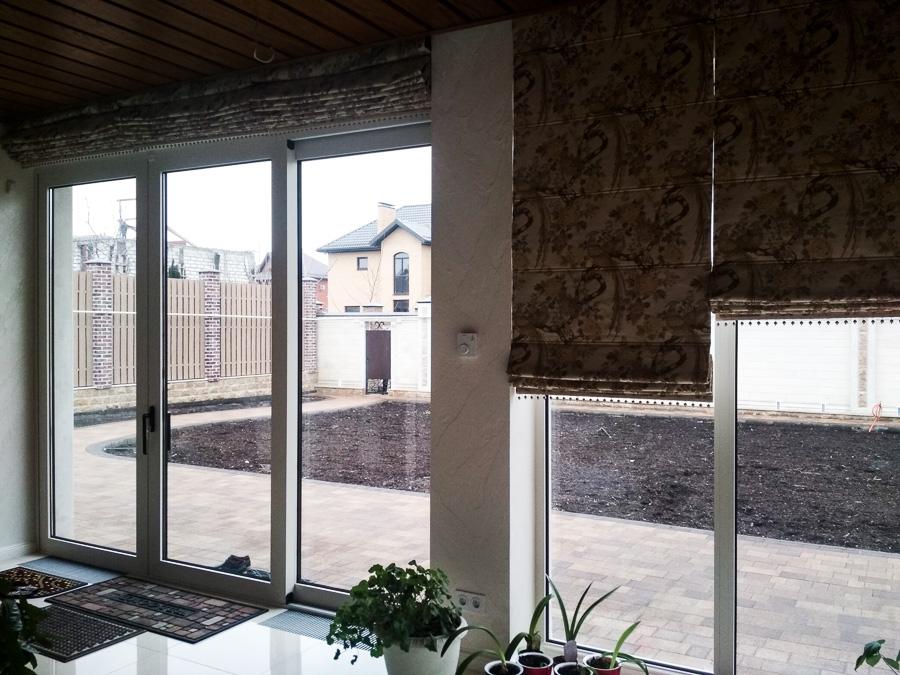 подъемно-сдвижные двери в частном доме