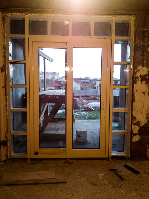 подъемно-сдвижные входные двери